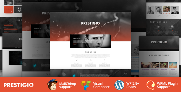 Prestigio One Page Parallax WordPress Theme - Portfolio Creative
