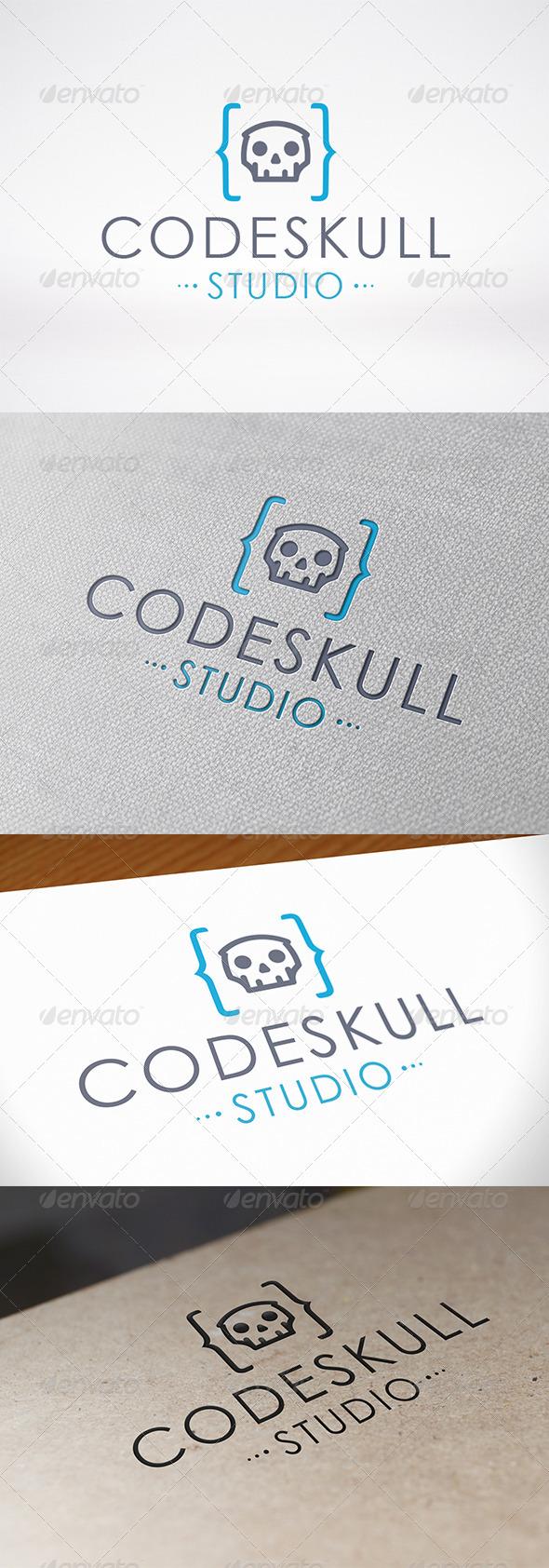GraphicRiver Code Skull Logo 7560041