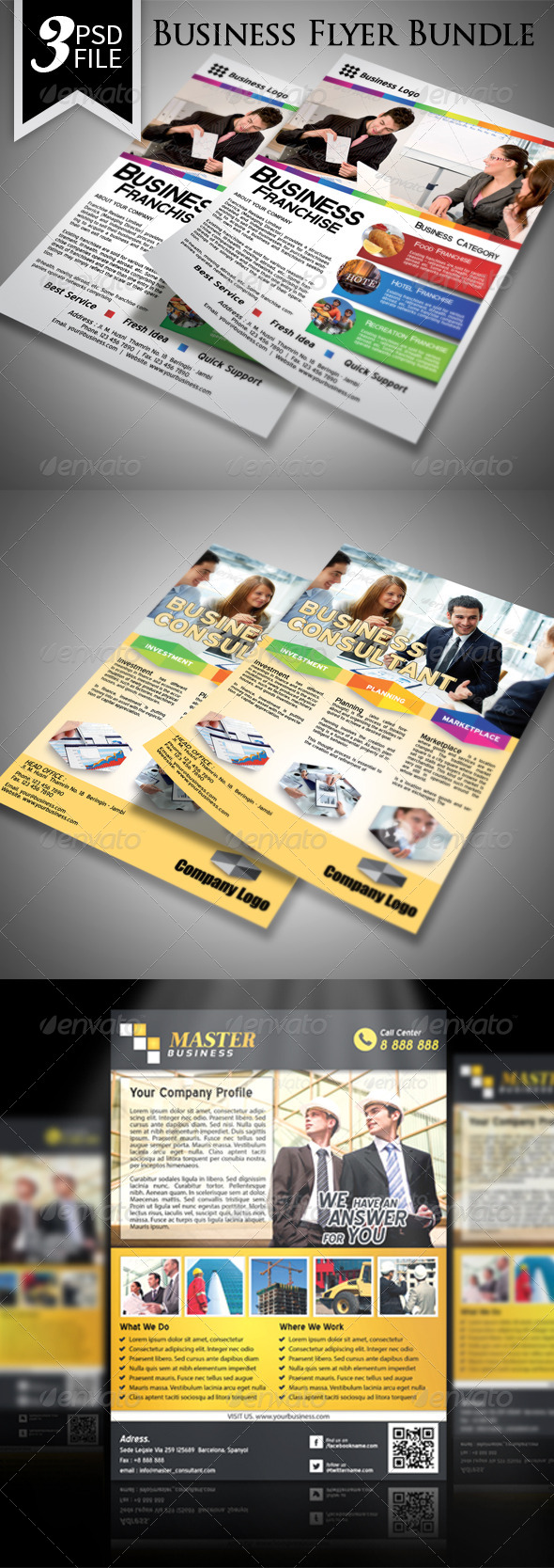 GraphicRiver Business Flyer Template Bundle 7560079