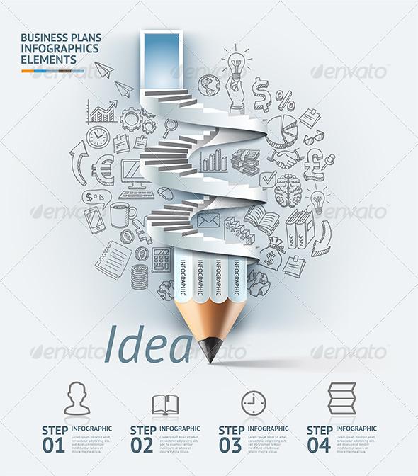 GraphicRiver Business Pencil Infographic Idea Template 7560161