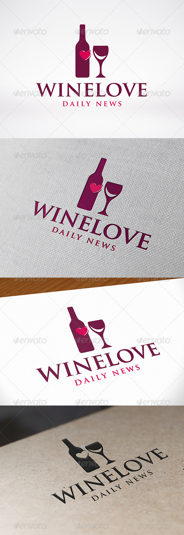 GraphicRiver Love Wine Logo Template 7560228