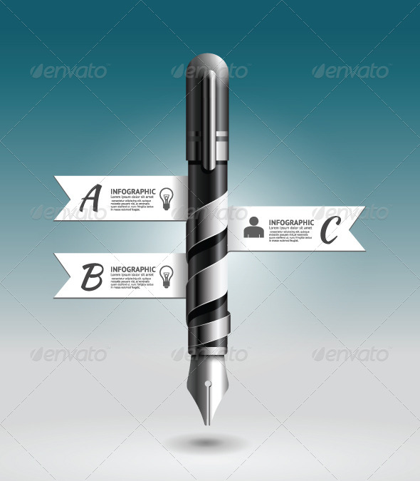 GraphicRiver Abstract 3D Ink Pen Infographic Design 7560379