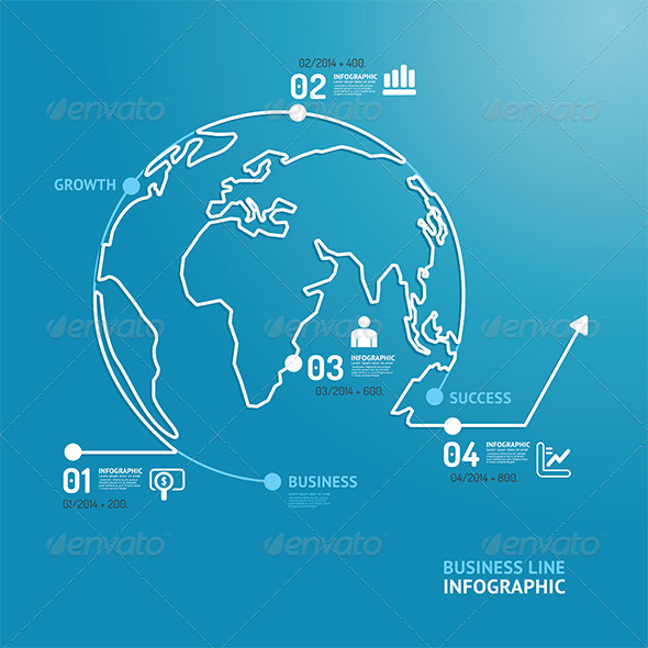 GraphicRiver World Business Diagram Line Style Design Template 7560539