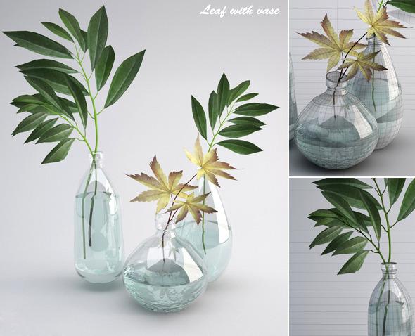 3DOcean Leaf wiht Vase 7560540