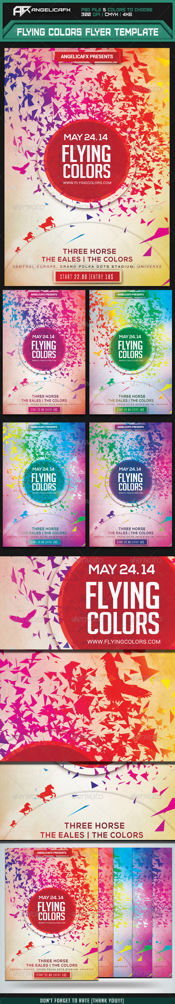 GraphicRiver Flying Colors Flyer Template 7560542