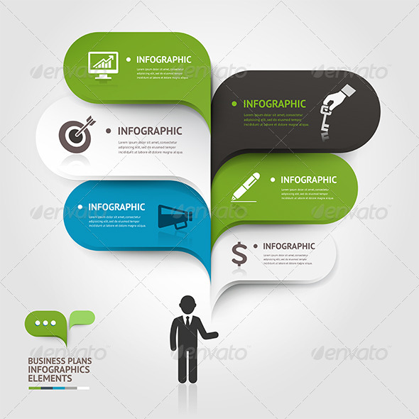 GraphicRiver Modern Business Bubble Speech Infographic 7560576
