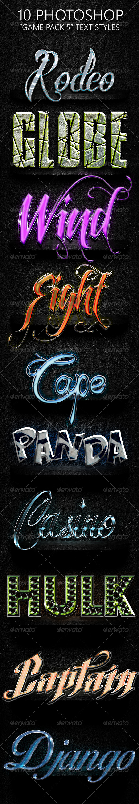 GraphicRiver Game Pack 05 Text Styles 7560735