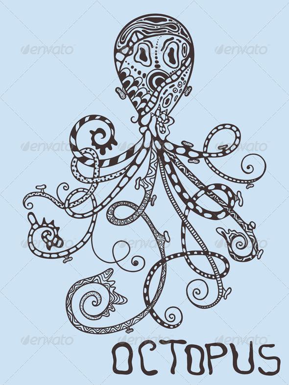 GraphicRiver Vector Octopus 7560890