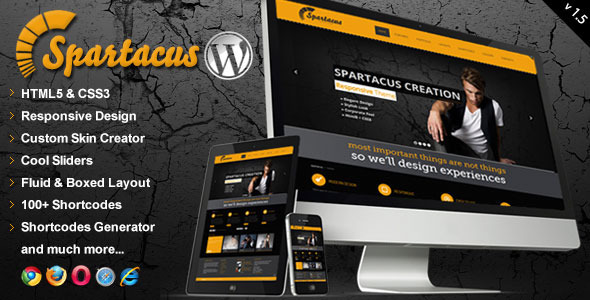 Spartacus Multipurpose Responsive Wordpress Theme - Corporate WordPress