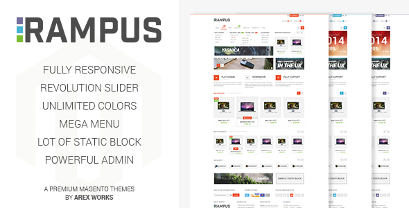 ThemeForest Rampus Responsive HighTech Magento Theme 7506055