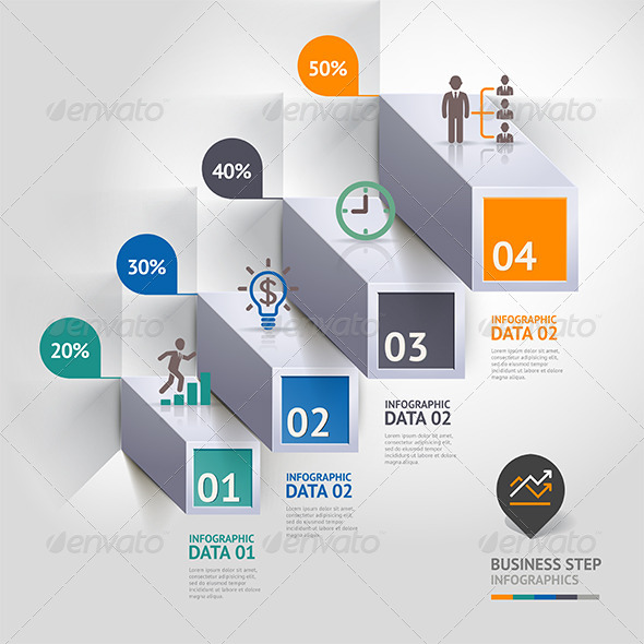 GraphicRiver Business Infographic Step Icon Template 7561269