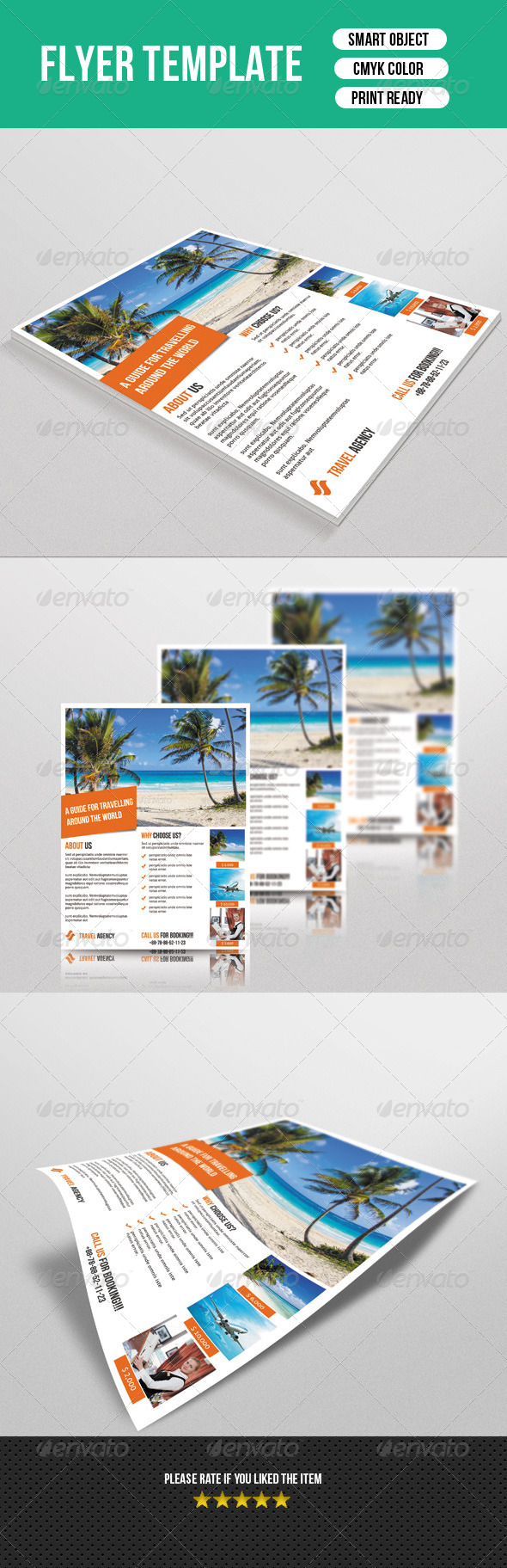 GraphicRiver Travel Business Flyer 7561593