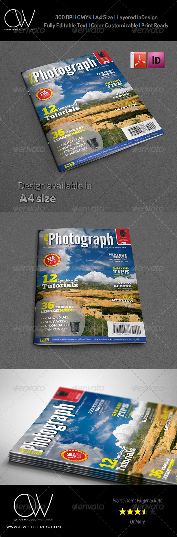 GraphicRiver Photographer Magazine Cover Template Vol.3 7555144