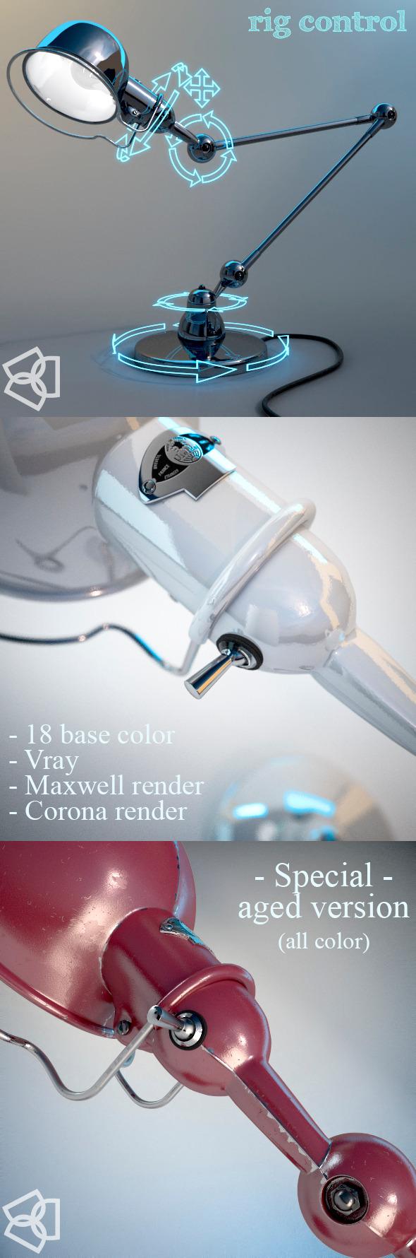 3DOcean Jielde D6440 lamp 3dmodel rigged 7561661