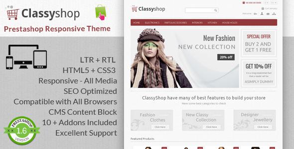 ClassyShop - Prestashop Responsive Theme - Shopping PrestaShop
