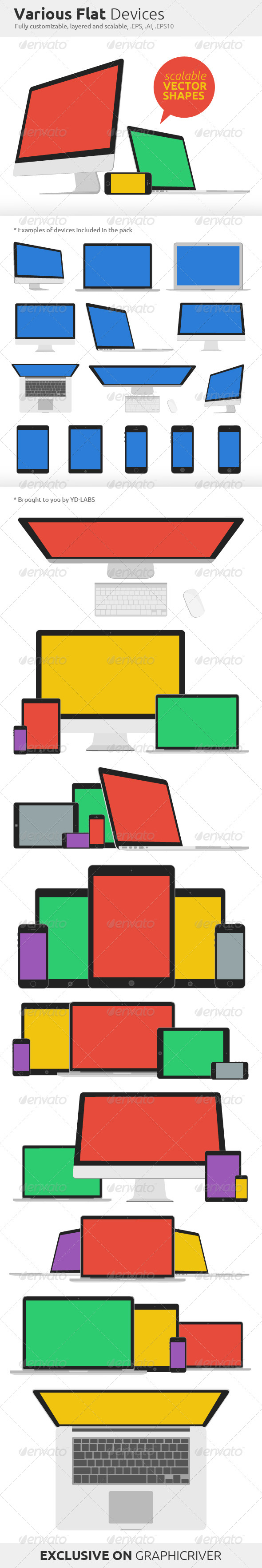 GraphicRiver Various Flat Devices 7562060