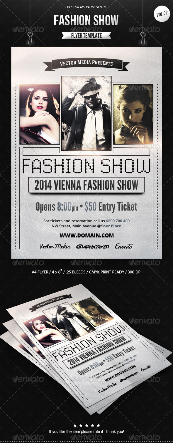 GraphicRiver Fashion Show Flyer [Vol.02] 7550328