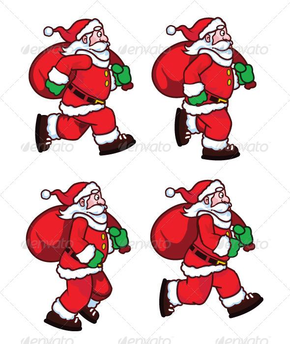 GraphicRiver Running Santa Sprite 7562524