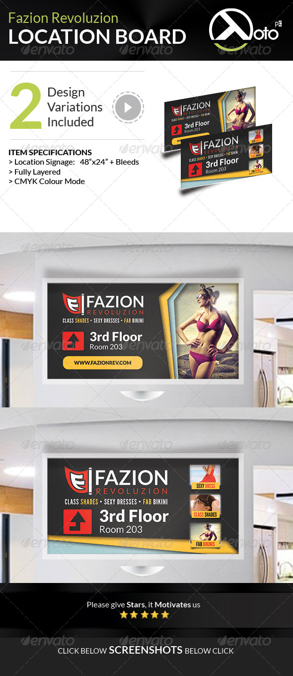 GraphicRiver Fazion Revoluzion Sale Location Boards 7562535