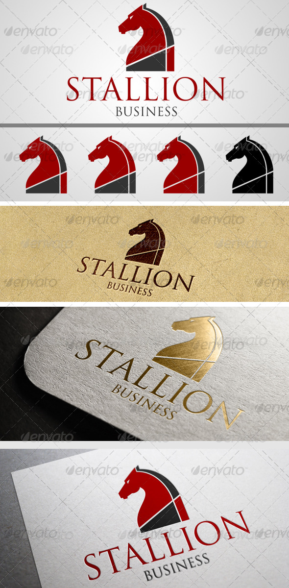 GraphicRiver Stallion Head Logo 7556482
