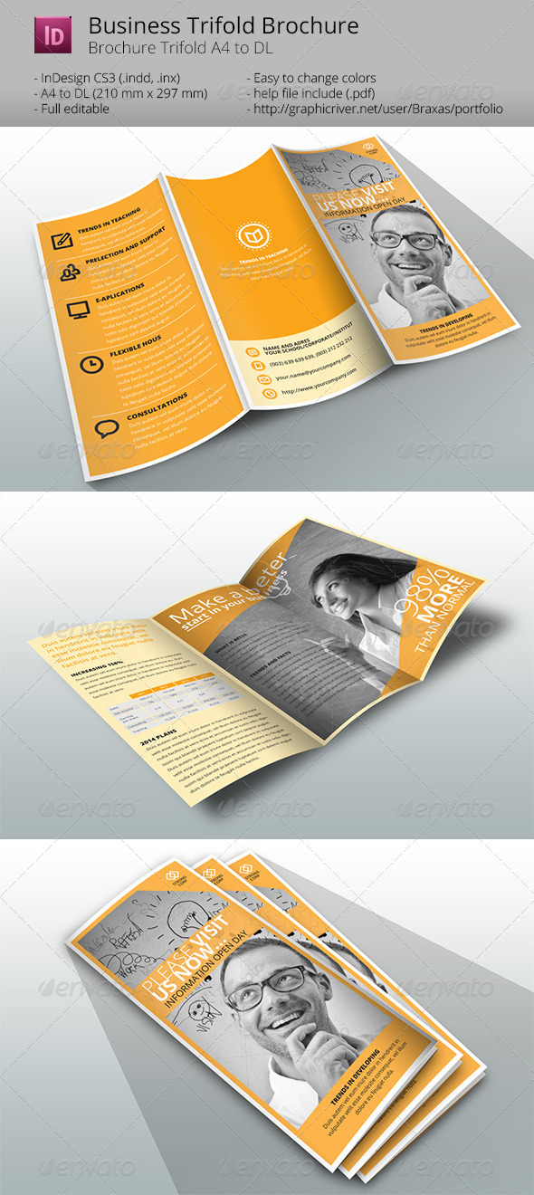 GraphicRiver Tri-fold Corporate Brochure Template 7562606