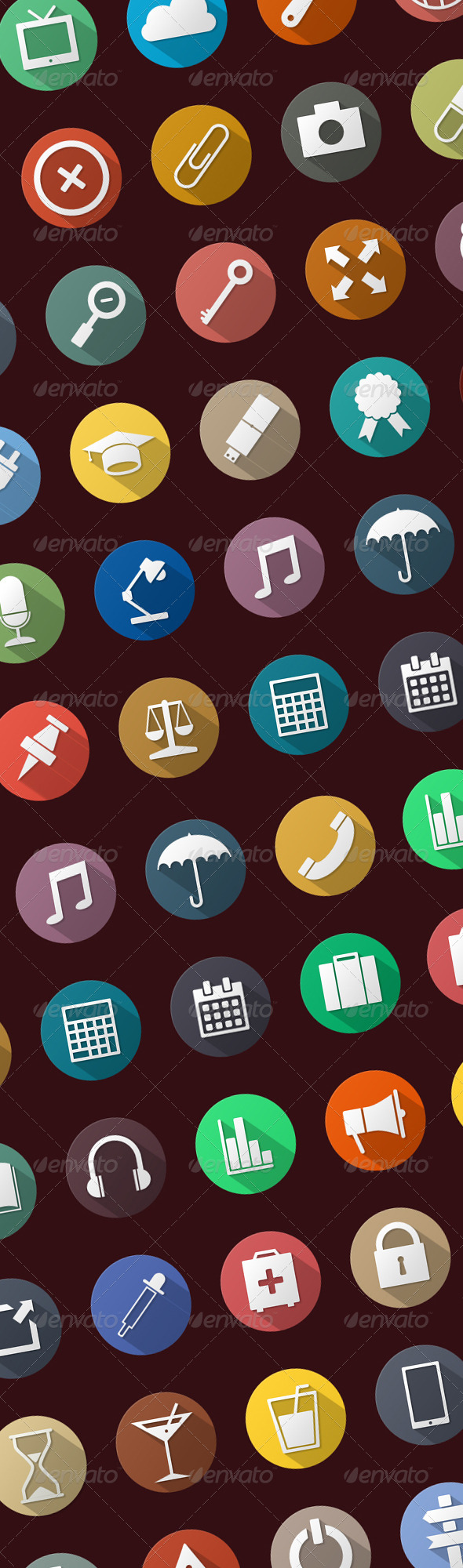 GraphicRiver Flat Icons Set 7562617
