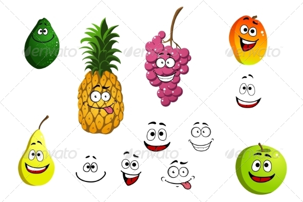 GraphicRiver Fruit Cartoons 7562623