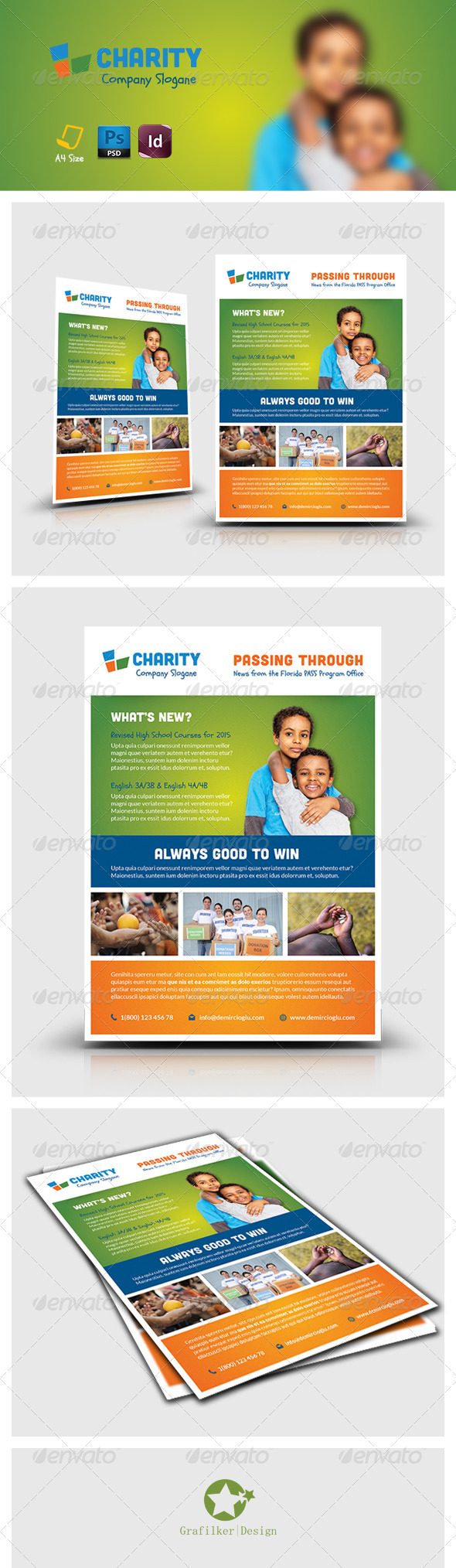 GraphicRiver Charity Flyer Templates 7562817