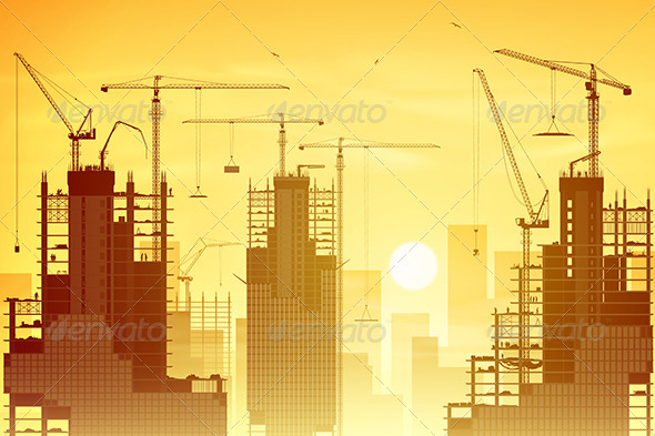 GraphicRiver Tower Cranes 7562907
