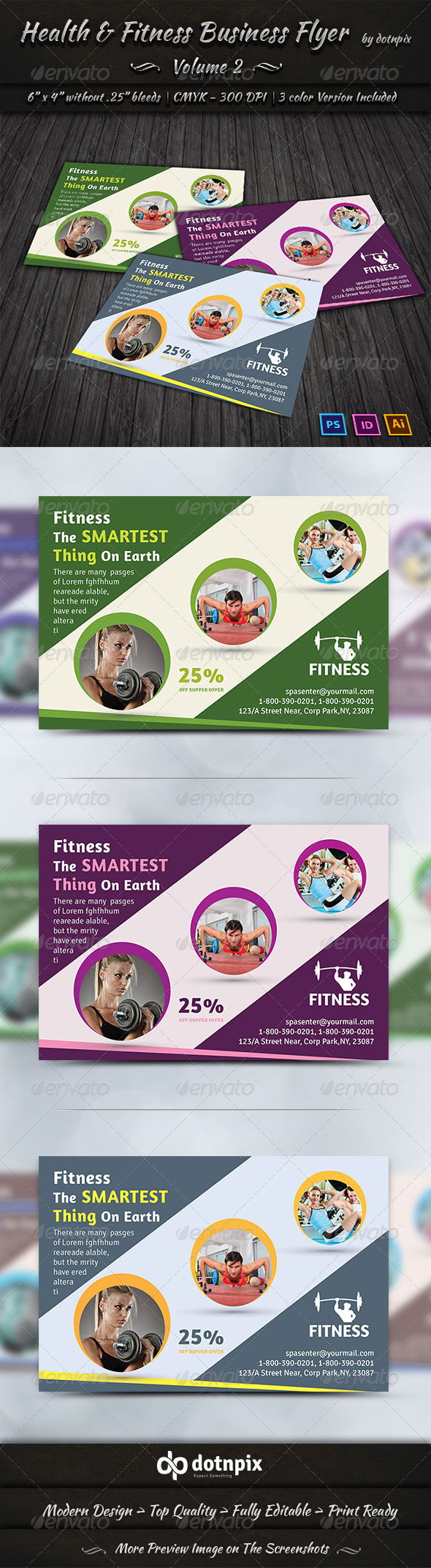 GraphicRiver Health & Fitness Center Flyer Volume 2 7563280