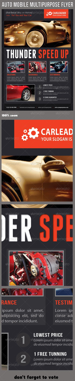 GraphicRiver Auto Mobile Multipurpose Flyer 03 7563291