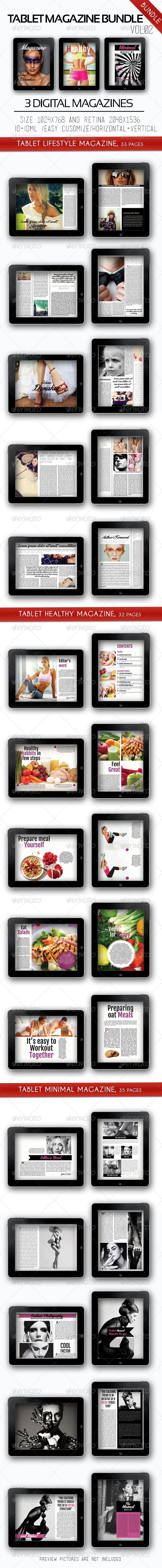 GraphicRiver Tablet Magazine Bundle Vol.02 7563303