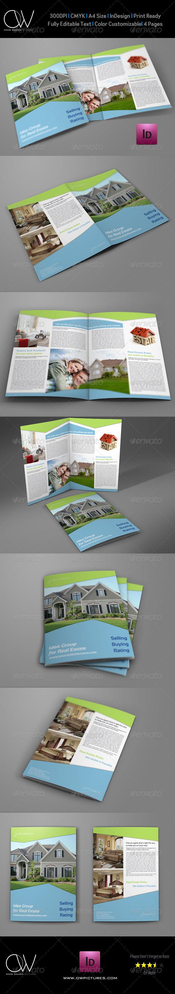 GraphicRiver Real Estate Company Brochure Bi Fold Template Vol2 7563368