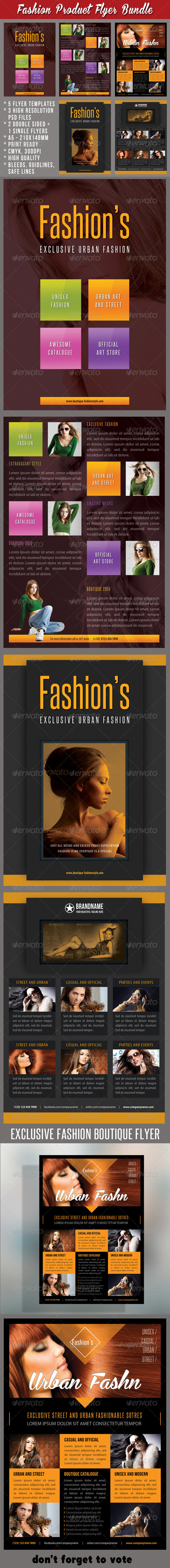 GraphicRiver 3 in 1 Fashion Product Flyer Bundle 17 7563370