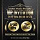 Golden VIP Invitation - GraphicRiver Item for Sale