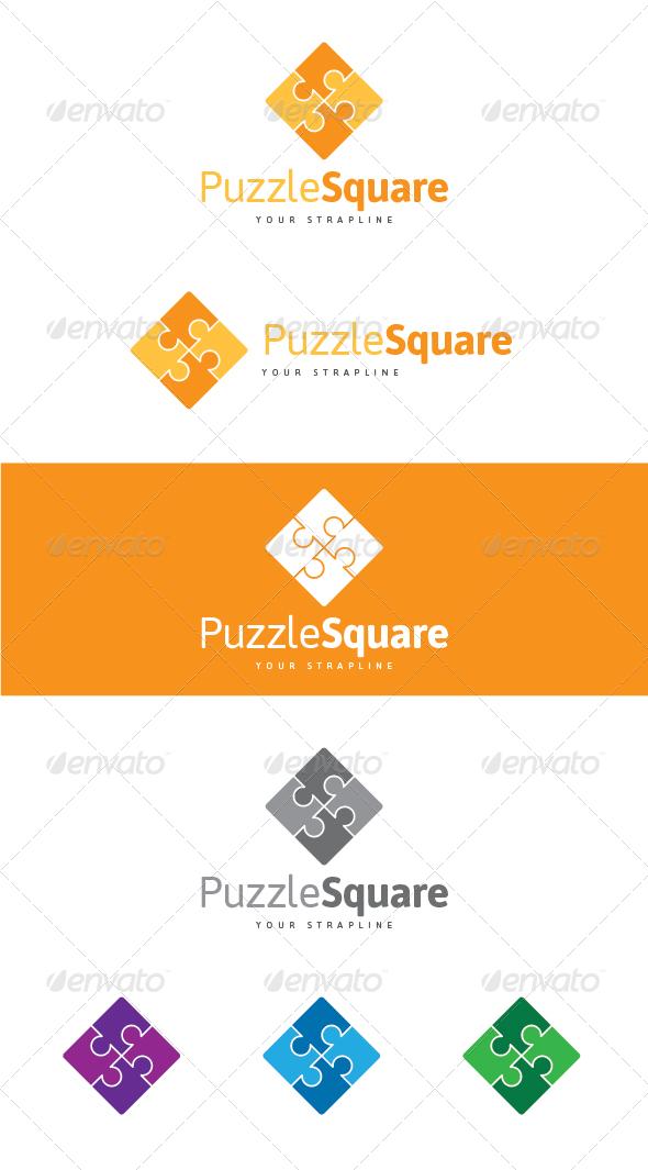 GraphicRiver Puzzle Square Logo 7563393