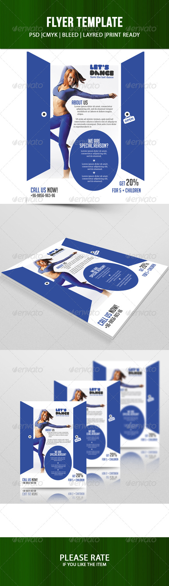GraphicRiver Dance Studio Flyer 7563491