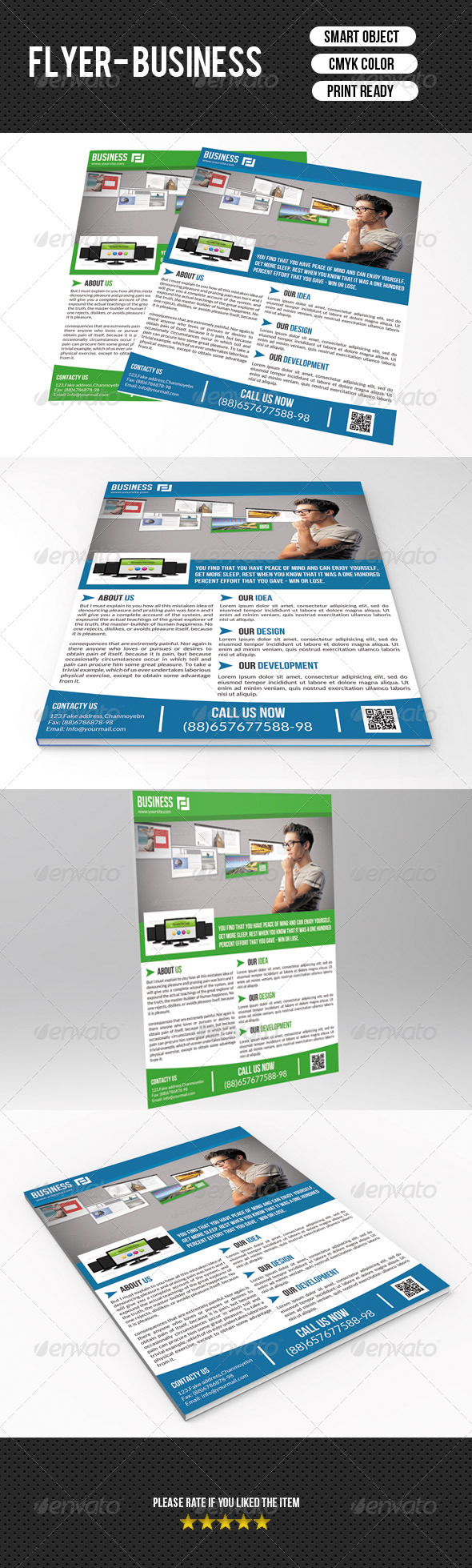 GraphicRiver Corporate Flyer Template 7563649
