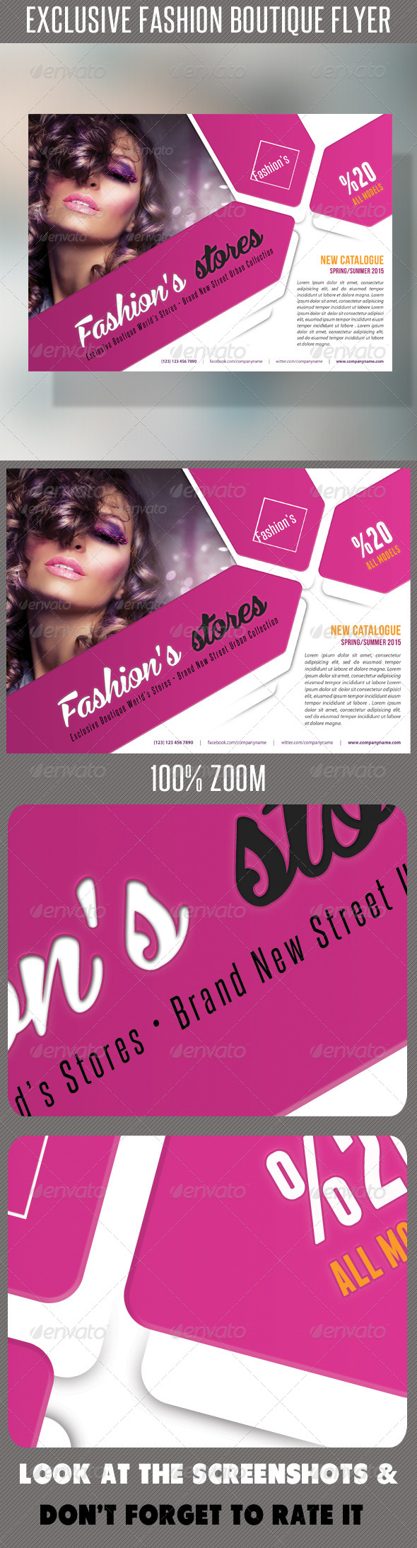 Fashion Product Flyer 54 - Flyers Print Templates