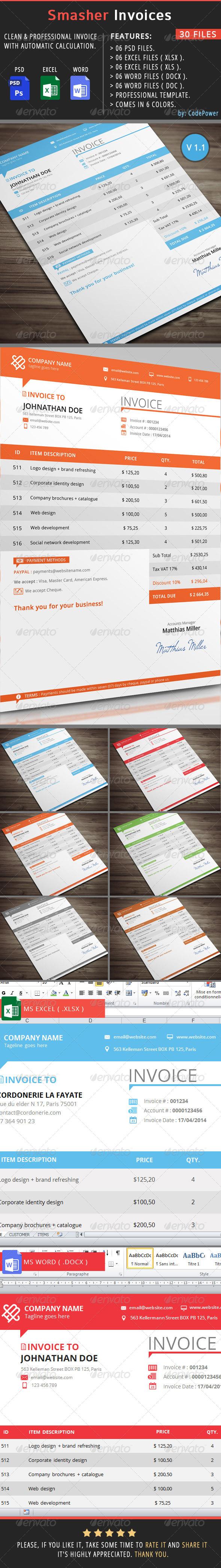 GraphicRiver Smasher Invoices 7531085