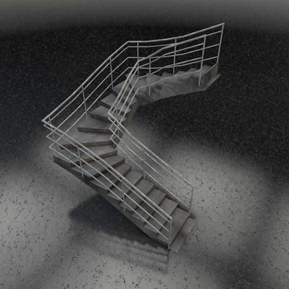 3DOcean U-shape stairs 7564126