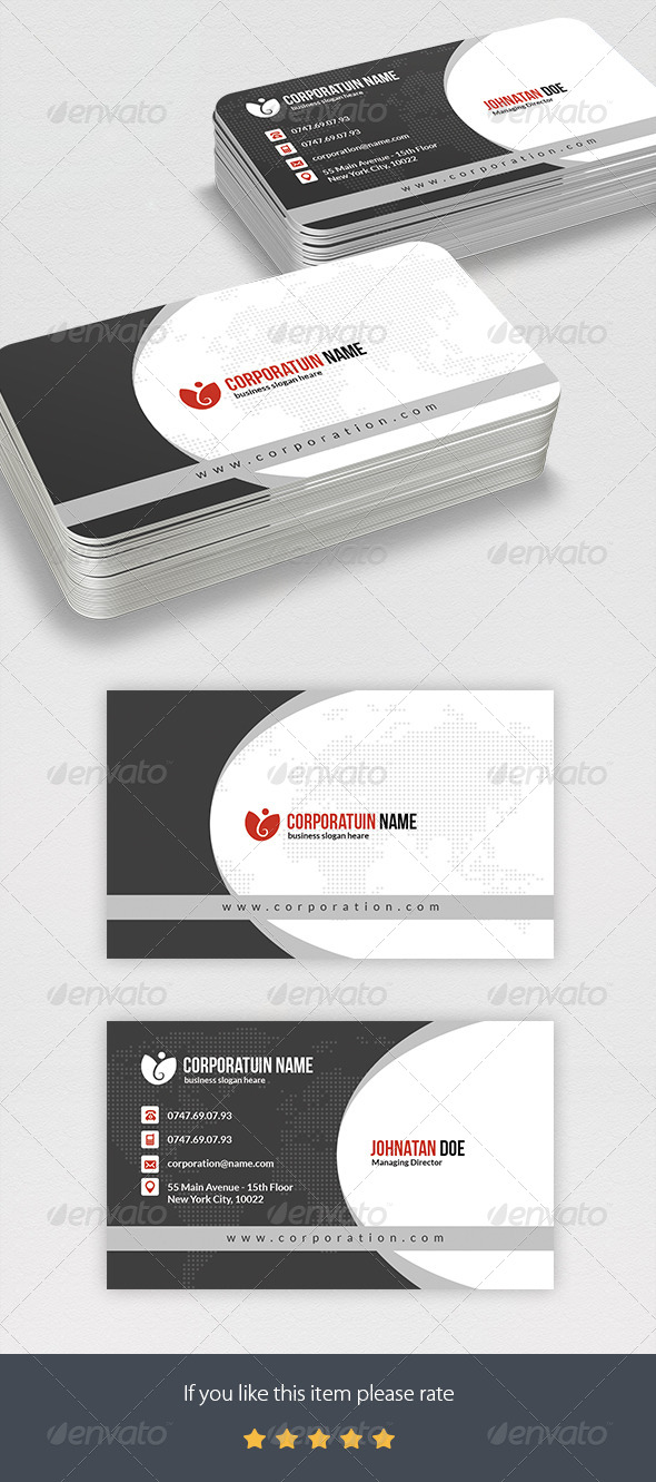 GraphicRiver Corportae Business Card 7564215