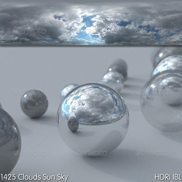 3DOcean HDRI IBL 1425 Clouds Sun Sky 7564247