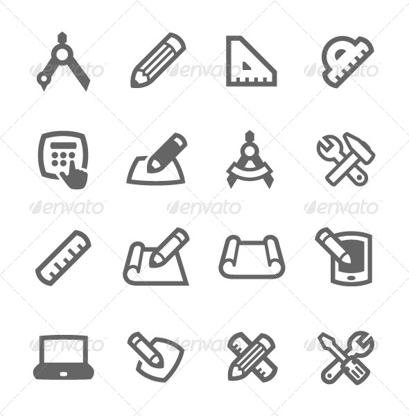 GraphicRiver Blueprint and Design Icons 7564409
