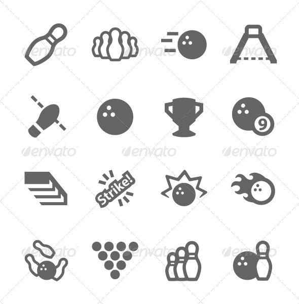 GraphicRiver Bowling Icons 7564438