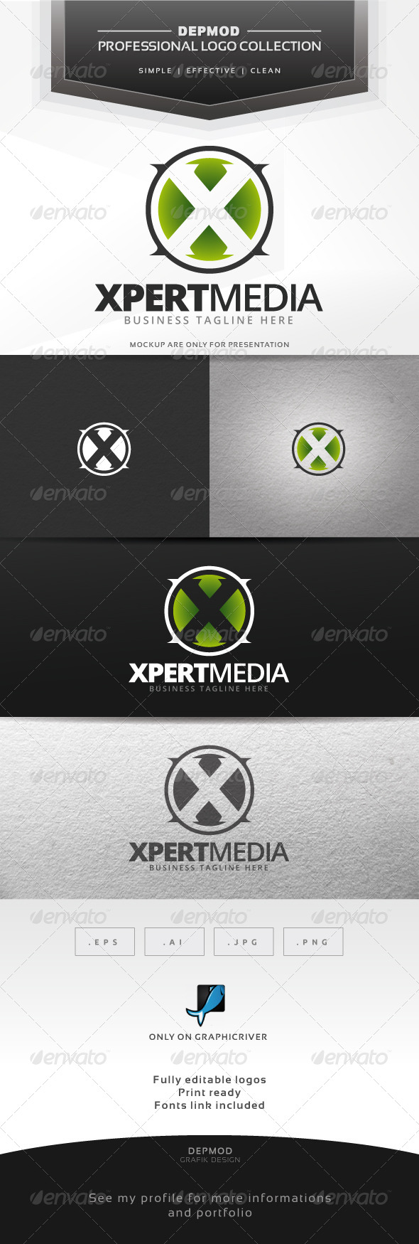 GraphicRiver Xpert Media Logo 7564483