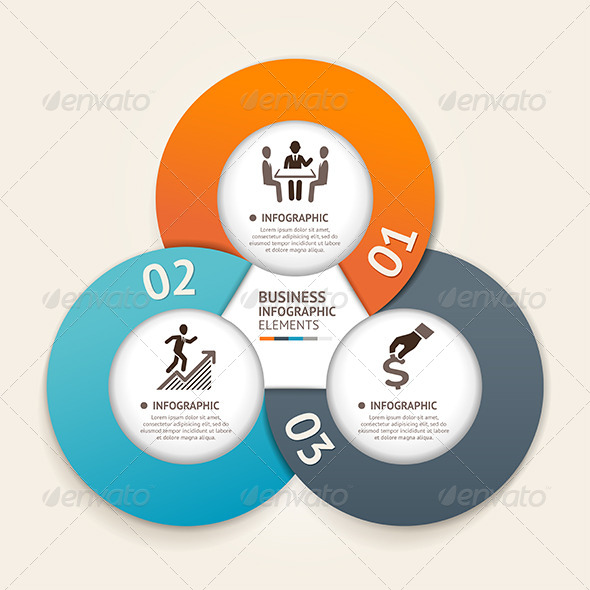 GraphicRiver Modern Business Circle Infographic Template 7564488