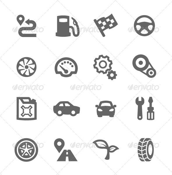 GraphicRiver Auto Icons 7564491
