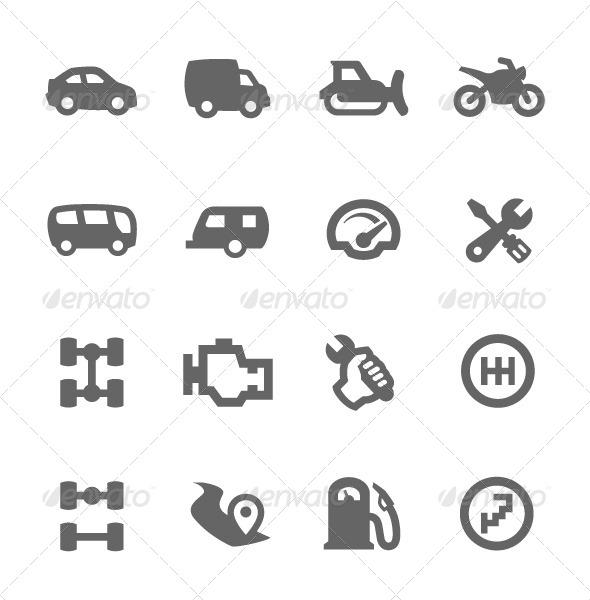 GraphicRiver Auto Icons 7564510