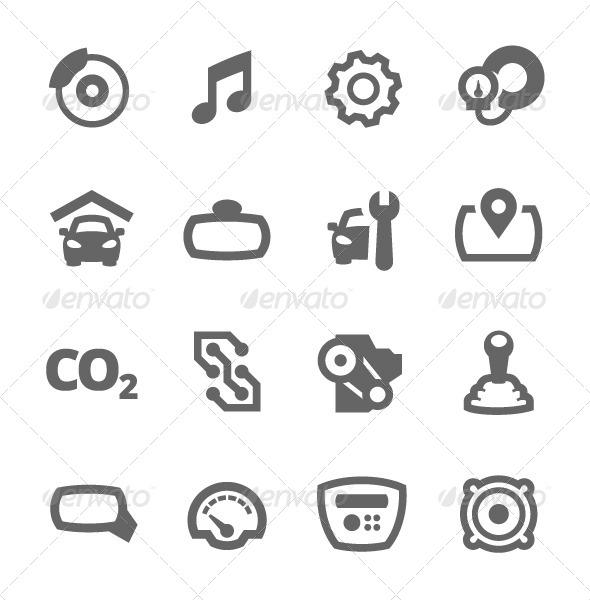 GraphicRiver Auto Icons 7564557